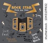 graphics slogan set isolated on ... | Shutterstock .eps vector #1043109832