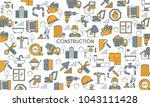 flat line design banner on... | Shutterstock .eps vector #1043111428