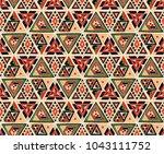indian geometric folklore... | Shutterstock .eps vector #1043111752