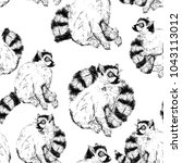 seamless pattern with wild ring ... | Shutterstock . vector #1043113012