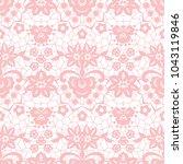 gentle lace seamless pattern...   Shutterstock .eps vector #1043119846