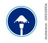 garden lamp vector logo.   Shutterstock .eps vector #1043120926