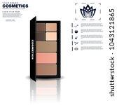 realistic cosmetics set on... | Shutterstock .eps vector #1043121865