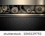 elegant background  gold and... | Shutterstock .eps vector #1043129752