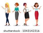 stock vector woman dresscode... | Shutterstock .eps vector #1043142316