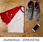 clothes set for calm morning... | Shutterstock . vector #1043143762
