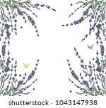 vector lavender hand drawn... | Shutterstock .eps vector #1043147938