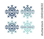 frozen product label icons.... | Shutterstock .eps vector #1043148232