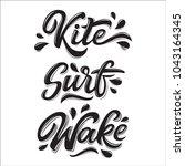 water extreme sport lettering... | Shutterstock .eps vector #1043164345