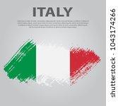 italian flag. flag of italy ... | Shutterstock .eps vector #1043174266