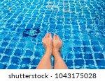 beautiful woman legs in... | Shutterstock . vector #1043175028