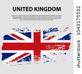 flag of the united kingdom of... | Shutterstock .eps vector #1043175532
