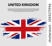 flag of the united kingdom of... | Shutterstock .eps vector #1043175946