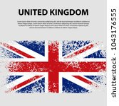flag of the united kingdom of... | Shutterstock .eps vector #1043176555