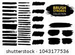 large set different grunge... | Shutterstock .eps vector #1043177536