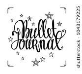 bullet journal hand drawn... | Shutterstock .eps vector #1043179225
