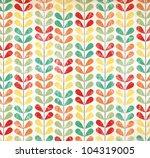 retro flower pattern   grunged...   Shutterstock . vector #104319005