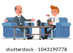 two businessmen. talk at the... | Shutterstock .eps vector #1043190778