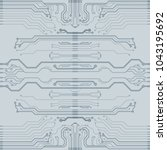 abstract vector high tech... | Shutterstock .eps vector #1043195692