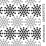 seamless pattern with dotted... | Shutterstock . vector #1043197372
