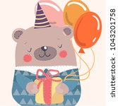 nice character bear. the image... | Shutterstock .eps vector #1043201758