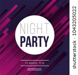 night party abstract vector... | Shutterstock .eps vector #1043205022