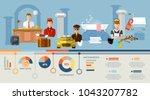 hotel service infographic ... | Shutterstock .eps vector #1043207782