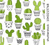 seamless pattern with  green... | Shutterstock .eps vector #1043215768
