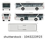 bus vector mock up. isolated... | Shutterstock .eps vector #1043223925