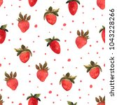 seamless pattern with isolated... | Shutterstock . vector #1043228266