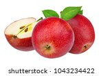 fresh red apple isolated on... | Shutterstock . vector #1043234422