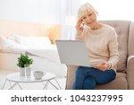 progressive pensioner. smart... | Shutterstock . vector #1043237995