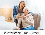 close people. positive... | Shutterstock . vector #1043239012