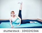 pregnancy  fitness  expecting a ...   Shutterstock . vector #1043242366
