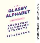vector glassy font modern... | Shutterstock .eps vector #1043242972