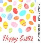 easter typography.happy easter  ... | Shutterstock .eps vector #1043249842