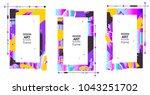 vector frame art graphics for... | Shutterstock .eps vector #1043251702
