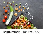 salad ingredients with lettuce  ... | Shutterstock . vector #1043253772