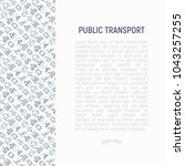 public transport concept with... | Shutterstock .eps vector #1043257255