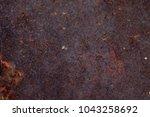 rusted metal wall. rusty metal... | Shutterstock . vector #1043258692
