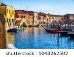 island murano in venice italy... | Shutterstock . vector #1043262502
