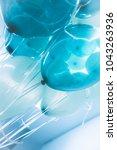 blue air balloons background ... | Shutterstock . vector #1043263936