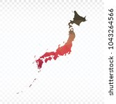 map polygonal japan map.... | Shutterstock .eps vector #1043264566