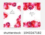 romantic background with red... | Shutterstock .eps vector #1043267182