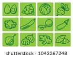 healthy vegetables  avocado ... | Shutterstock .eps vector #1043267248