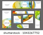 set of abstract web banner... | Shutterstock .eps vector #1043267752