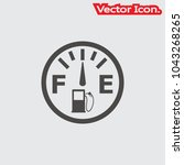 fuel icon isolated sign symbol... | Shutterstock .eps vector #1043268265