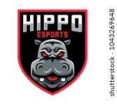 hippo sports logo | Shutterstock .eps vector #1043269648