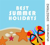 summer time vector banner... | Shutterstock .eps vector #1043275042