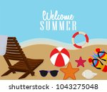 summer time vector banner... | Shutterstock .eps vector #1043275048